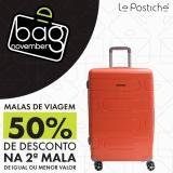 Bag November: malas de viagem com 50% de desconto na segunda unidade na Le Postiche