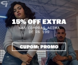 15% de desconto extra acima de R$ 199,00 em compras nas Lojas Gang