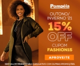 15% de desconto no Outono/Inverno 21 nas Lojas Pompéia