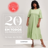 Só Hoje: Ashua Day – todos os produtos com 20% de desconto nas Lojas Renner