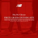 Dia do Cliente: Frete Grátis Minas Gerais, São Paulo, Rio de Janeiro e Paraná na New Balance