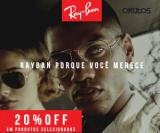 Ray-Ban com 20% de desconto na Okulos