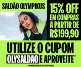Saldão: 15% de desconto em compras acima de R$ 199,90 na Olympikus