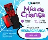 Mês da Criança com Descontos Variados + Frete Grátis em itens selecionados no Positivo