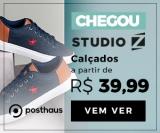 Mais de 2.000 calçados masculinos da StudioZ em oferta da loja Posthaus