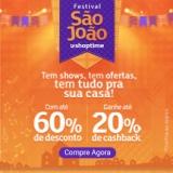Festival de São João: até 60% de desconto + até 20% de cashback no Shoptime