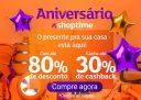 Promoção de Aniversário: até 80% de desconto + até 30% de cashback no Shoptime