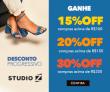 Desconto Progressivo: ganhe 30% de desconto nas compras acima de R$ 200,00 no Studio Z