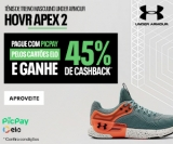 Compre tênis Hovr Apex 2 com Pic Pay pelos cartões Elo e ganhe 45% de cashback na Under Armour