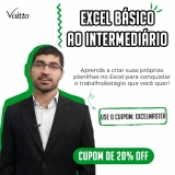 Curso Excel Básico ao Intermediário com 20% de desconto na Voitto