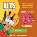 Kits da Semana: com até 50% de desconto para sócio no Wine