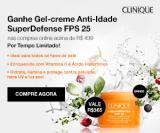 Ganhe Gel-creme Anti-idade Super Defense nas compras acima de R$ 499,00 na Clinique
