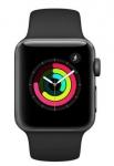 Apple Watch Series 3  38 mm  Alumínio Cinza Espacial Pulseira Esportiva preta modelo MTF02BZ/A em oferta da loja Carrefour