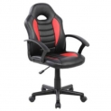 Cadeira Gamer Kids em Couro PU Preta com Vermelha Pelegrin PEL-9353 no Walmart