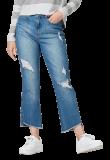Calça Feminina em Jeans de Algodão Destroyed azul em oferta da loja Hering