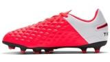 Chuteira Campo Juvenil Nike Tiempo Legend 8 Club FG/MG vermelha e preta em oferta da loja Netshoes