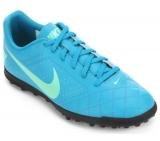 Chuteira Society Nike Beco 2 TF azul em oferta da loja Netshoes