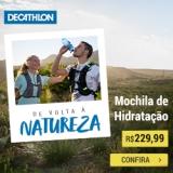 De volta a Natureza: Mochila de Hidratação em oferta da loja Decathlon