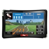GPS Aquarius 4 Rodas 4.3 com TV Digital, Touchscreen, Alerta de Radares, MP4, FM, modelo Slim MTC4374 na Casa&Vídeo