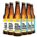 Kit Cerveja Lohn Bier Pilsen com seis garrafas 355 ml em oferta da loja Divvino