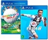 Kit Game Everybody's Golf + Game FIFA 19 PS4 com 60% de cashback no Submarino