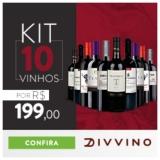 Kit com dez vinhos por R$ 199,00 no Divvino