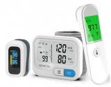 Flash Oferta: Kit com monitor de pressão arterial, oxímetro e termômetro digital com 42% de desconto no AliExpress