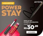 Lançamento: Power Stay Lip Tint e Caneta Delineadora em oferta da loja Avon