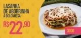 Lasanha de Abobrinha à Bolonhesa 300 gramas em oferta da loja Lucco Fit