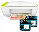 Mês do Consumidor:  Deskjet Ink Advantage multifuncional 2136 verde F5S30A + Cartucho 664 colorido + Cartucho 664 PB em oferta da loja HP