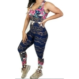 Macacão de Academia Estampado Fitness feminino com bojo UV50+ em oferta da loja SolyBrasil