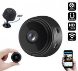 Mini Câmera de Segurança 1080P Visão Noturna Detecção de Movimento WiFi com 70% de desconto no Sou Barato