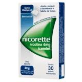 Nicorette Icemint 4 mg com 30 gomas mastigavéis na Onofre