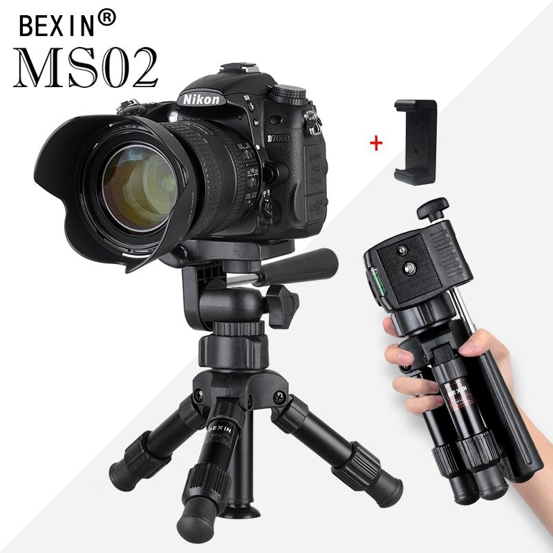 Pequena câmera de mesa leve tripé suporte do telefone titular portátil desktop bolso compacto mini tripé para telefone dslr câmera (Entregue por )