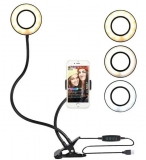 Ring light luminária abajur LED live stream em oferta da loja Shoptime