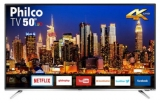 Smart TV Philco 50″ LED 4K com Conversor Digital Integrado Wi-Fi 2 HDMI 2 USB Netflix PTV50F60SN nas Americanas