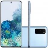 Smartphone Samsung Galaxy S20 128GB Dual Chip 8GB RAM 4G Tela Infinita de 6.2″ Cloud Blue em oferta da loja Girafa