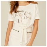 Camisetas Femininas modelo T-shirt: com 60% de desconto + 10% de desconto extra na Dzarm