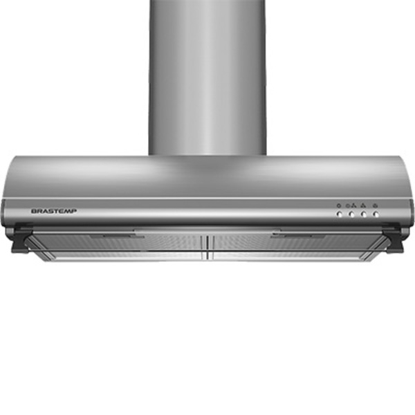 Depurador de Ar Brastemp 60 cm Inox 4 bocas com duto estético e duplo filtro 220V BAT60ARBNA (Entregue por Brastemp)