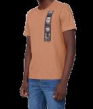 Camiseta Masculina Regular em Algodão laranja em oferta da loja Dzarm