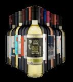 Kit 16 vinhos de três continentes com 65% de desconto no Vinho Fácil