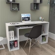 Mesa para Computador com Nichos Bliv – Branco (Entregue por )