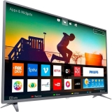 Smart TV LED 58″ Philips Ultra Slim Ultra HD 4K Wi-FI 3 HDMI 2 USB prata em oferta da loja Girafa