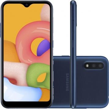Smartphone Samsung Galaxy A01 32gb 2gb Ram Tela Infinita De 5.7