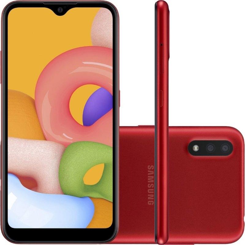 Smartphone Samsung Galaxy A01 32gb 2gb Ram Tela Infinita De 5.7″ Câme (Entregue por Girafa)